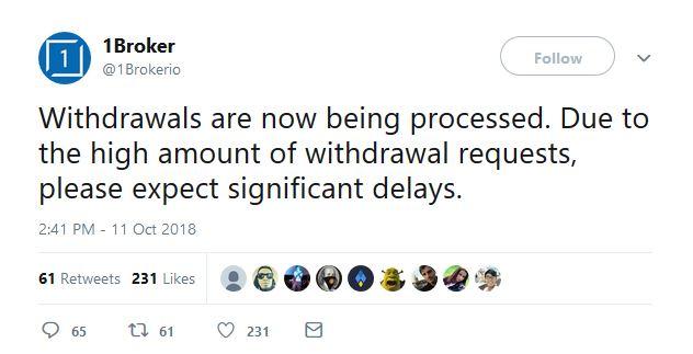 Über Twitter informierte der Anbieter der User