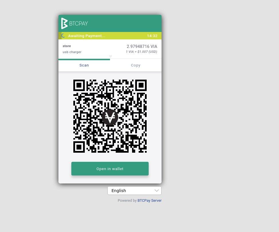 BTCPay integriert VIA