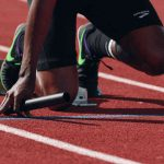 Sprinter im Startblock
