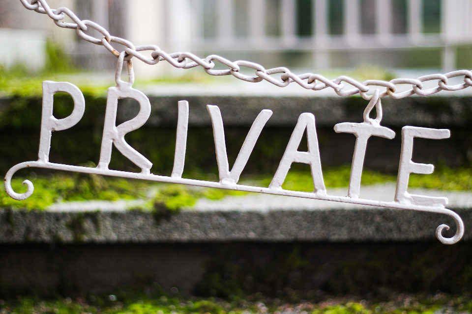 """Schriftzug """"Private"""""""