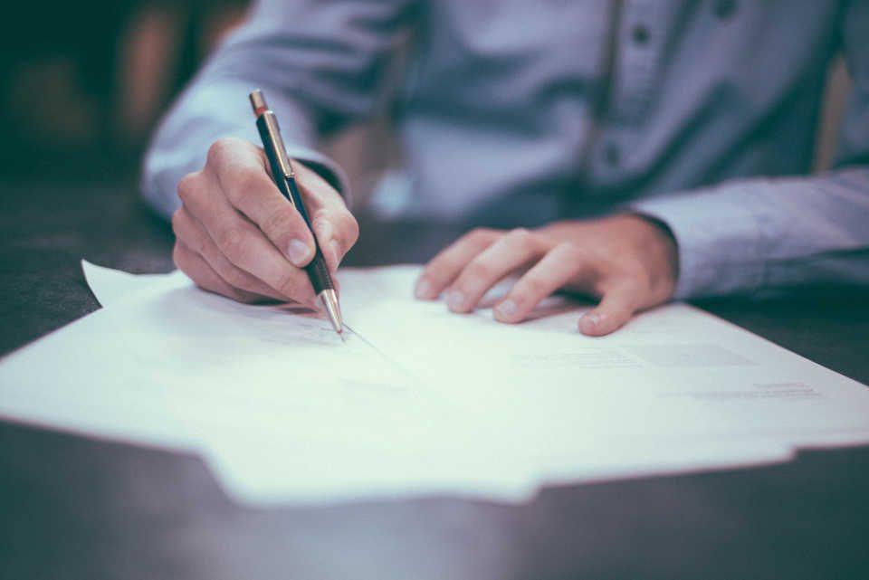 Füller und Papier