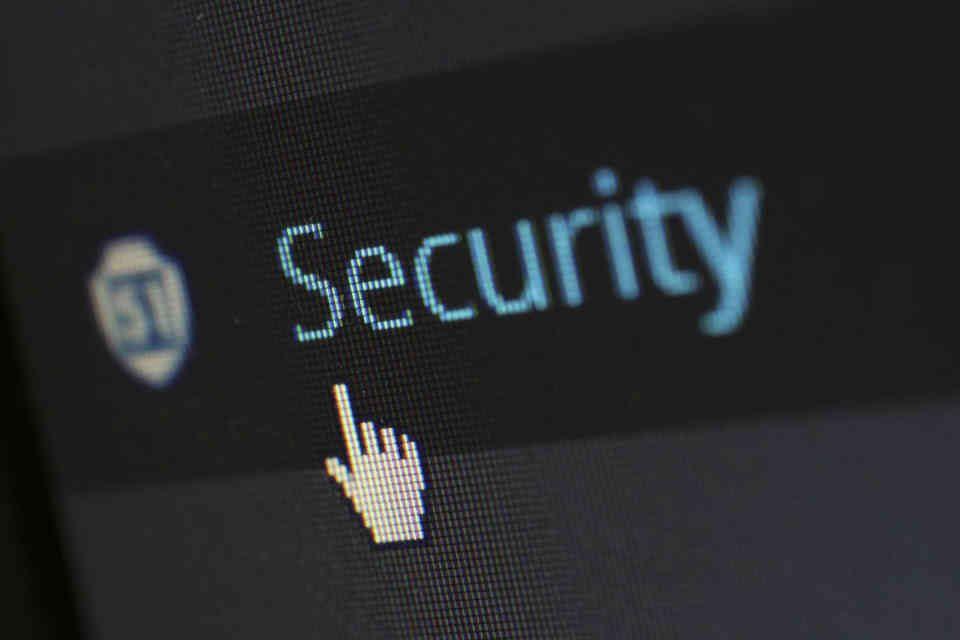 Schriftzug: Security