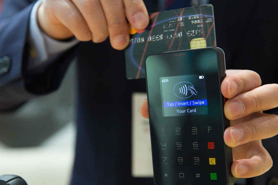 Zahlung mit Debitkarte